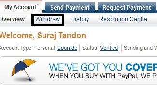 paypal withdraw