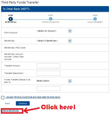 Click Add Beneficiary