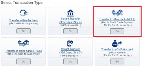 Select Transaction Type