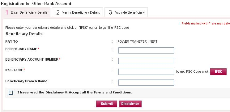 axis bank online money transfer to other banks