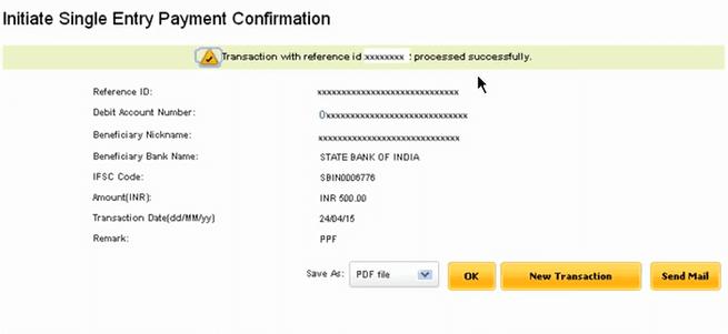 payment sent netpnb