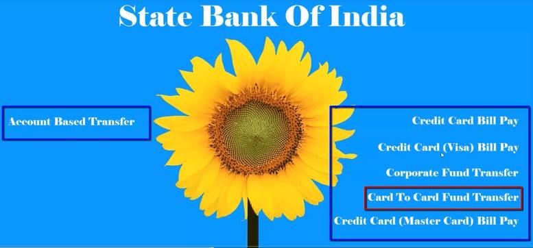 sbi card to card fund transfer