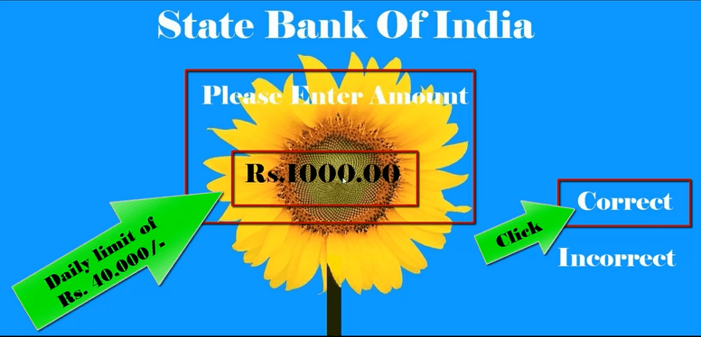 enter amount sbi