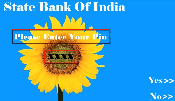 enter sbi atm pin