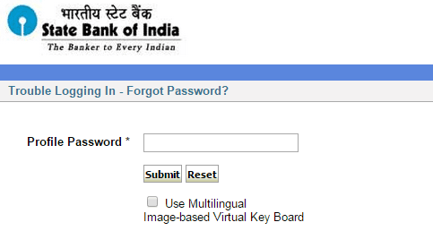 profile password sbi