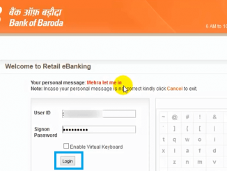 bank of baroda net banking login page
