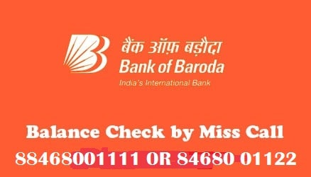 bank of baroda new missed call balance enquiry number