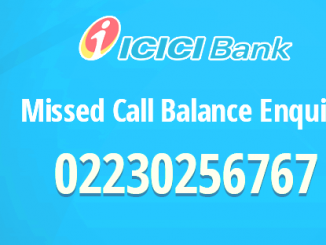 icici account balance check