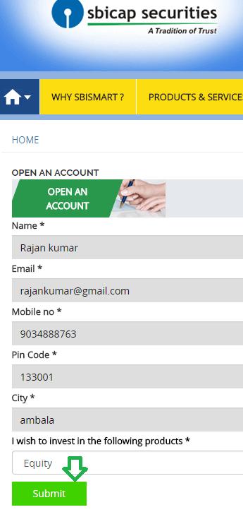 register for sbi demat trading account