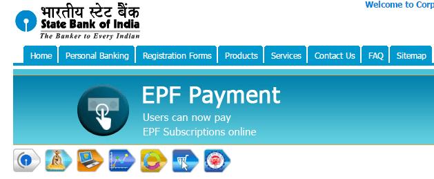pay epf online through sbi net banking
