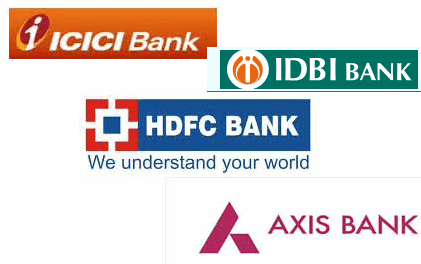 full name of icici, hdfc, idbi and axis bank