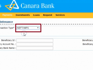 beneficiary maintenance canara bank