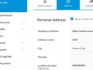 change sbi card address