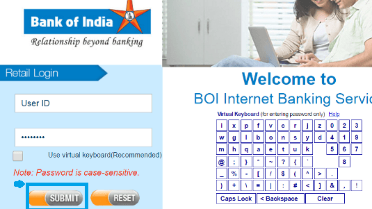 How To Login First Time In Bank Of India Internet Banking
