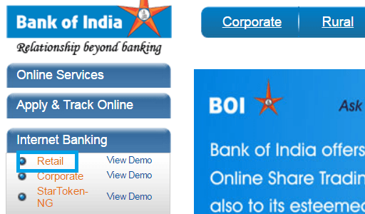 How to Register For Bank of India Net Banking Online
