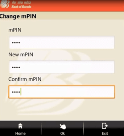 change mpin bank of baroda