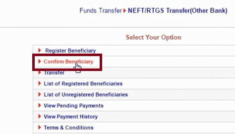 confirm beneficiary union bank of india