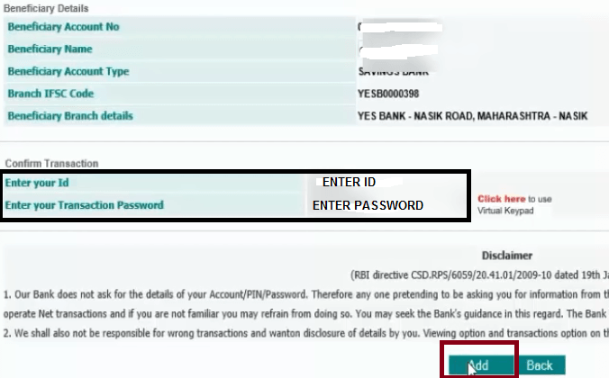confirm transaction in idbi bank