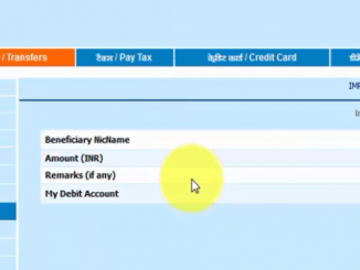 imps fund transfer in bank of india