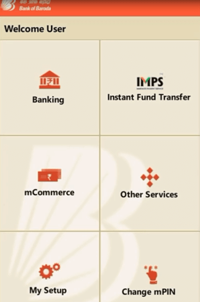 m connect app home page bank of baroda