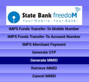 mmid in sbi freedom app