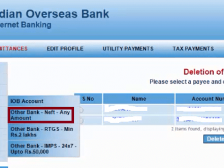 fund transfer to other bank from iob account