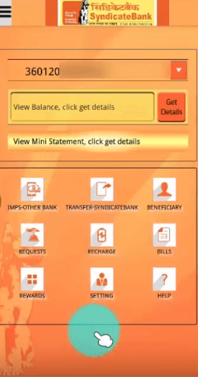 get account details syndicate bank