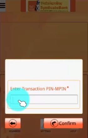 enter mpin syndicate bank