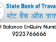 sbt balance enquiry number