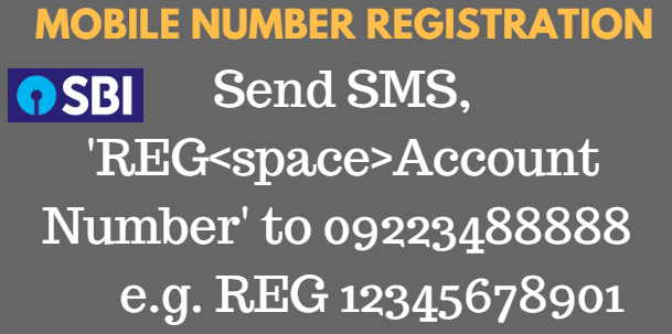 mobile number registration in sbi for balance enquiry