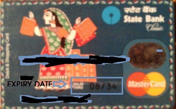 expiry date in sbi debit card