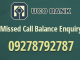 uco bank balance enquiry number
