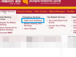 block pnb debit card