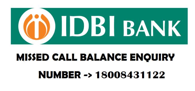 IDBI bank Account Balance Enquiry