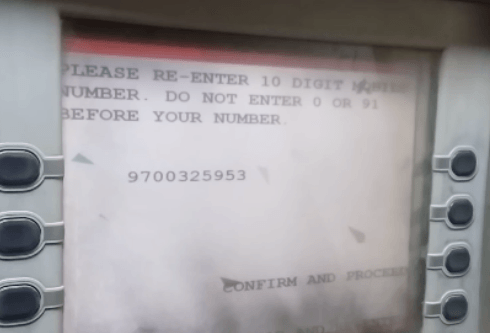 confirm mobile number in axis bank atm