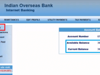 iob account balance check via net banking