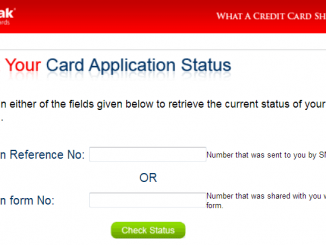 check kotak credit card application status