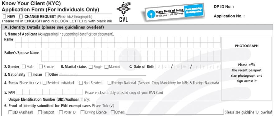 sbi nri kyc form download
