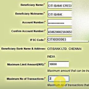 add beneficiary details obc