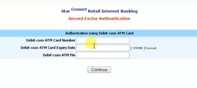 atm card number bank of india