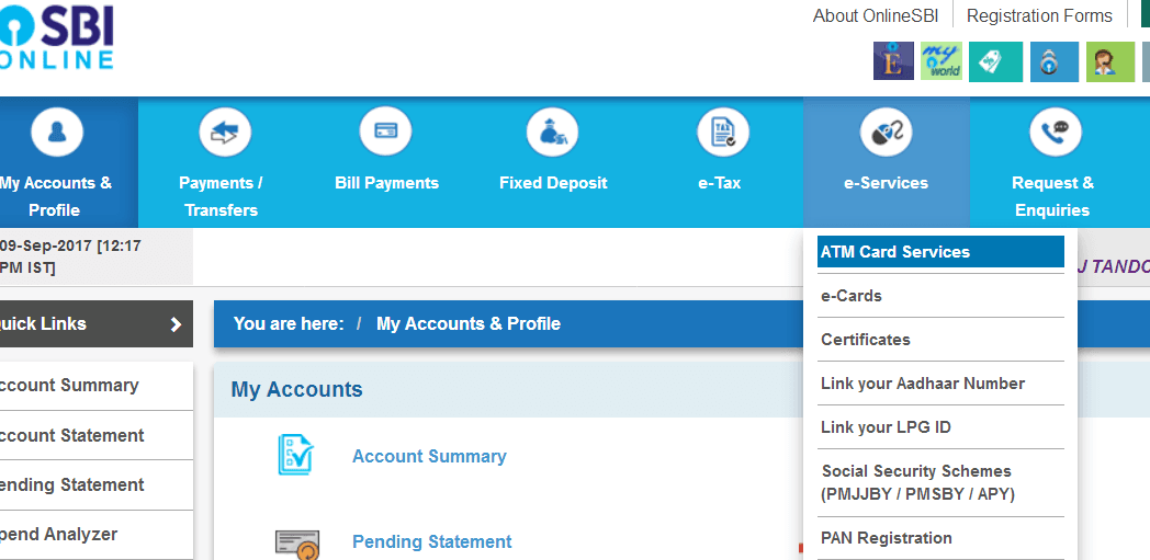 How To Apply For SBI ATM/Debit Card Online
