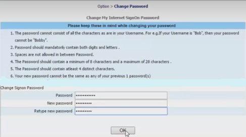 new login password bank of india