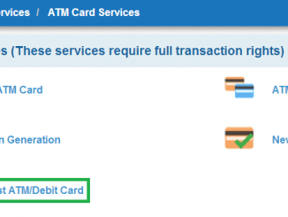 request atm debit card sbi
