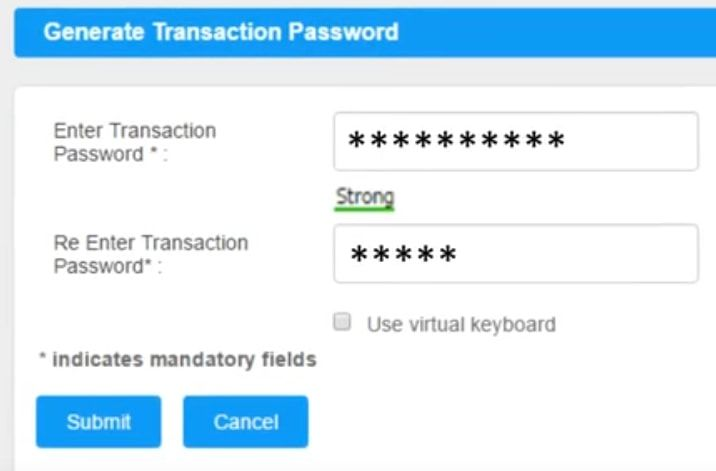 how to change transaction password in icici bank