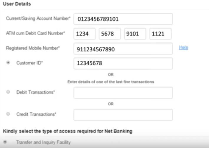 user details canara bank