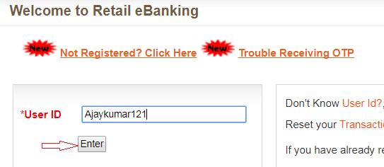 enter user id bank of baroda