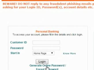 generate online password idbi