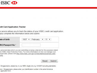 track hsbc credit card status online