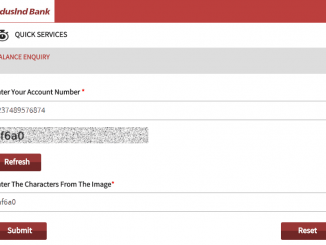 indusind balance check online