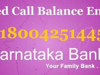 karnataka bank missed call balance enquiry